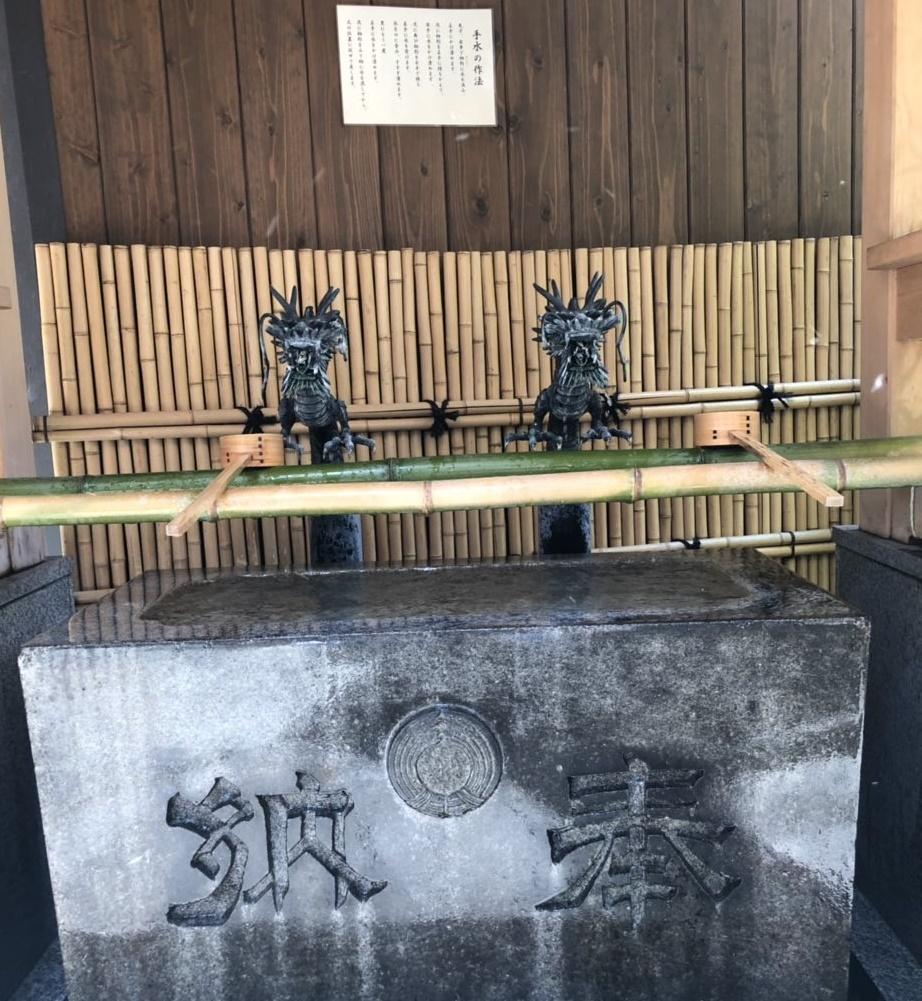 小網神社の手水舎