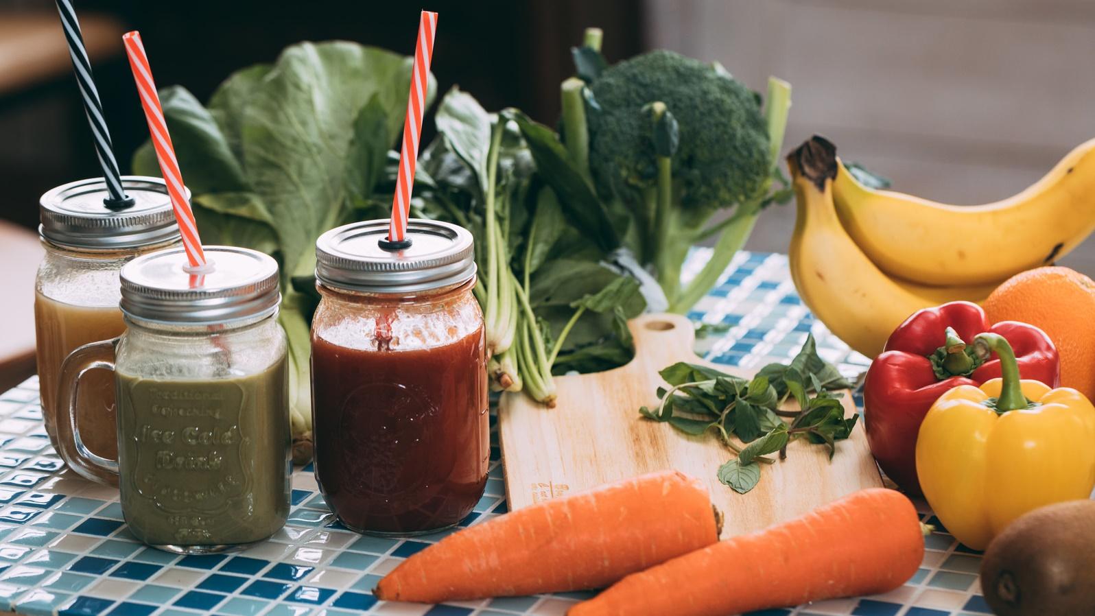 スムージーと野菜