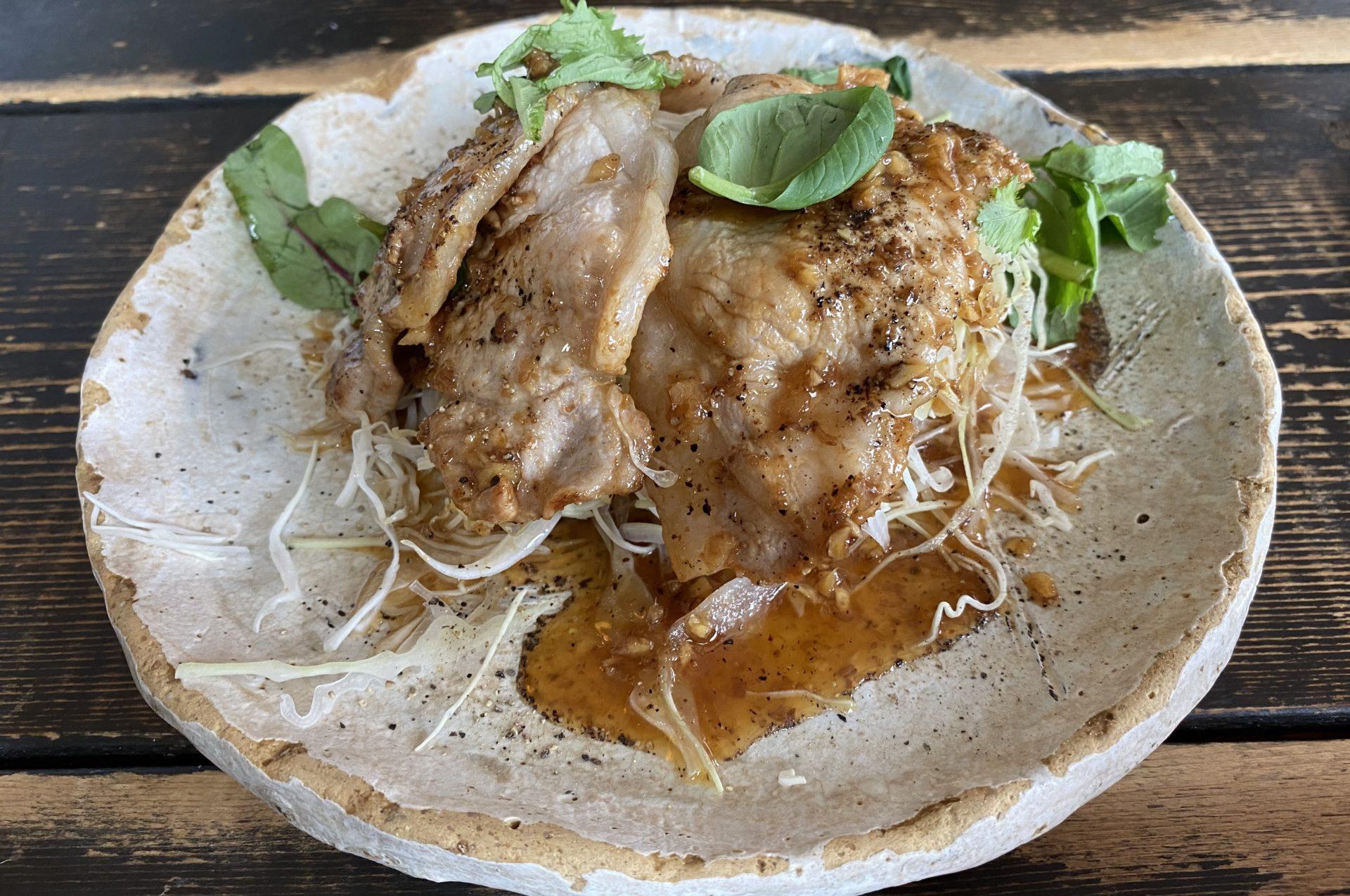 生姜料理しょうがの生姜焼き