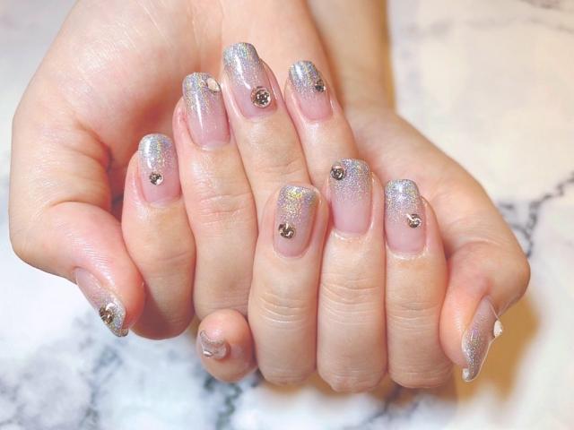 爪 ネイル ピンク