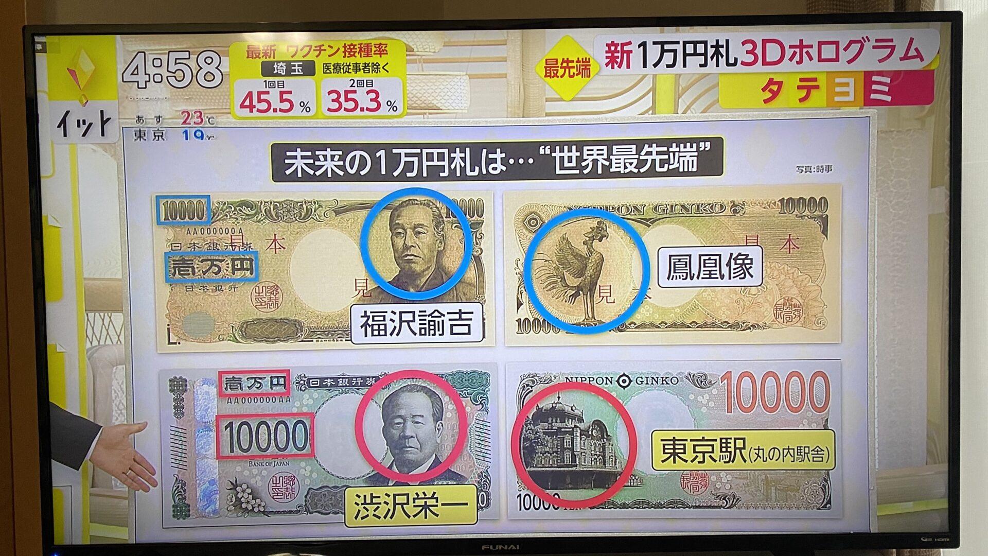 新い万円札